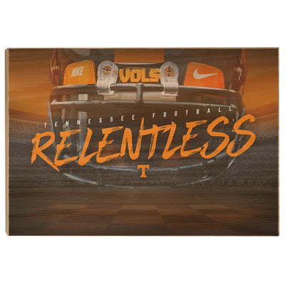 Tennessee Volunteers - Relentless - College Wall Art #Wood