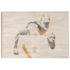 Tennessee Volunteers - Double Exposure T - College Wall Art #Wood