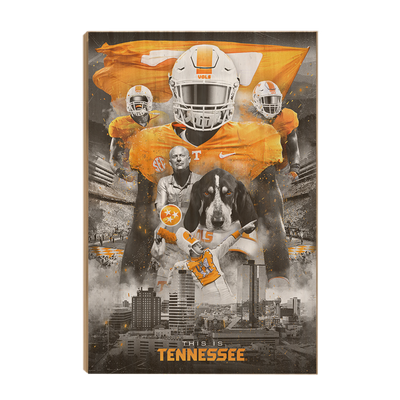 Tennessee Volunteers - This is Tennessee - College Wall Art #Wood