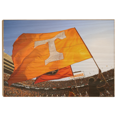 Tennessee Volunteers - T Flags - College Wall Art #Wood