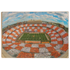 Tennessee Volunteers - Aerial Fisheye Checkerboard Neyland - College Wall Art #Wood
