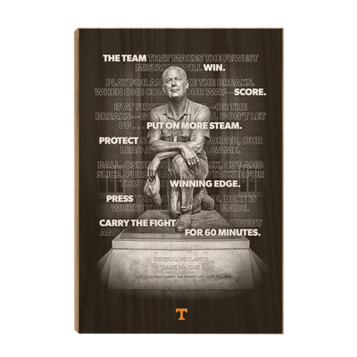 Tennessee Volunteers - Game Maxims - College Wall Art #Wood