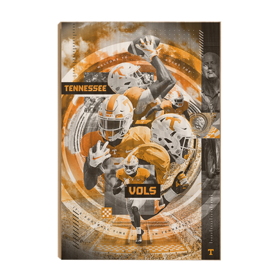 Tennessee Volunteers - Football Time - College Wall Art #Wood