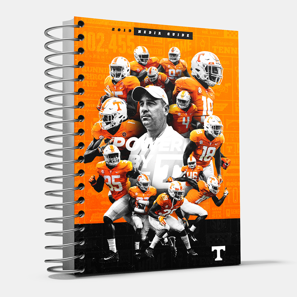 Tennessee Volunteers - 2019 University of Tennessee Football Media Guide - College Wall Art #Media Guide