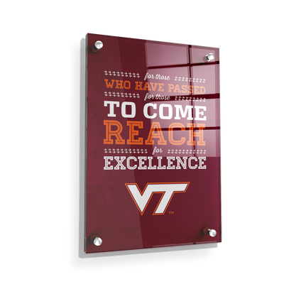 Virginia Tech Hokies - Reach - College Wall Art #Acrylic
