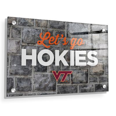 VIRGINIA TECH HOKIES - Lets Go Hokies - College Wall Art #Acrylic