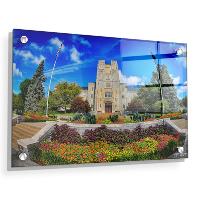 Virginia Tech Hokies - Summer Burress Hall - College Wall Art #Acrylic