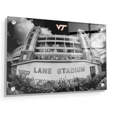 Virginia Tech Hokies - Lane Stadium Black & White - College Wall Art #Acrylic