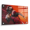 Virginia Tech Hokies - Maroon & Orange - College Wall Art #Acrylic