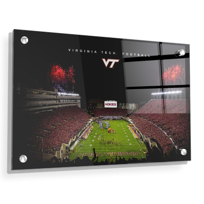 Virginia Tech Hokies - Enter VT Football - College Wall Art #Acrylic