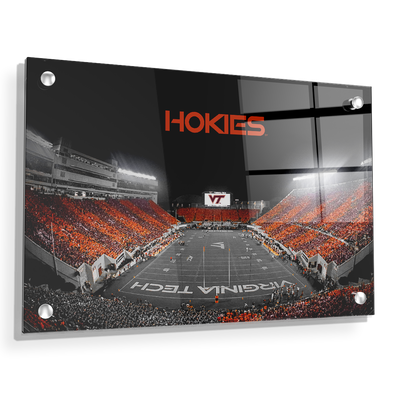 Virginia Tech Hokies - Hokie Striped End Zone - College Wall Art #Acrylic