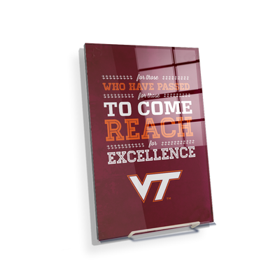 Virginia Tech Hokies - Reach - College Wall Art #Acrylic Mini