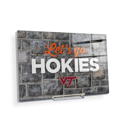 VIRGINIA TECH HOKIES - Lets Go Hokies - College Wall Art #Acrylic Mini