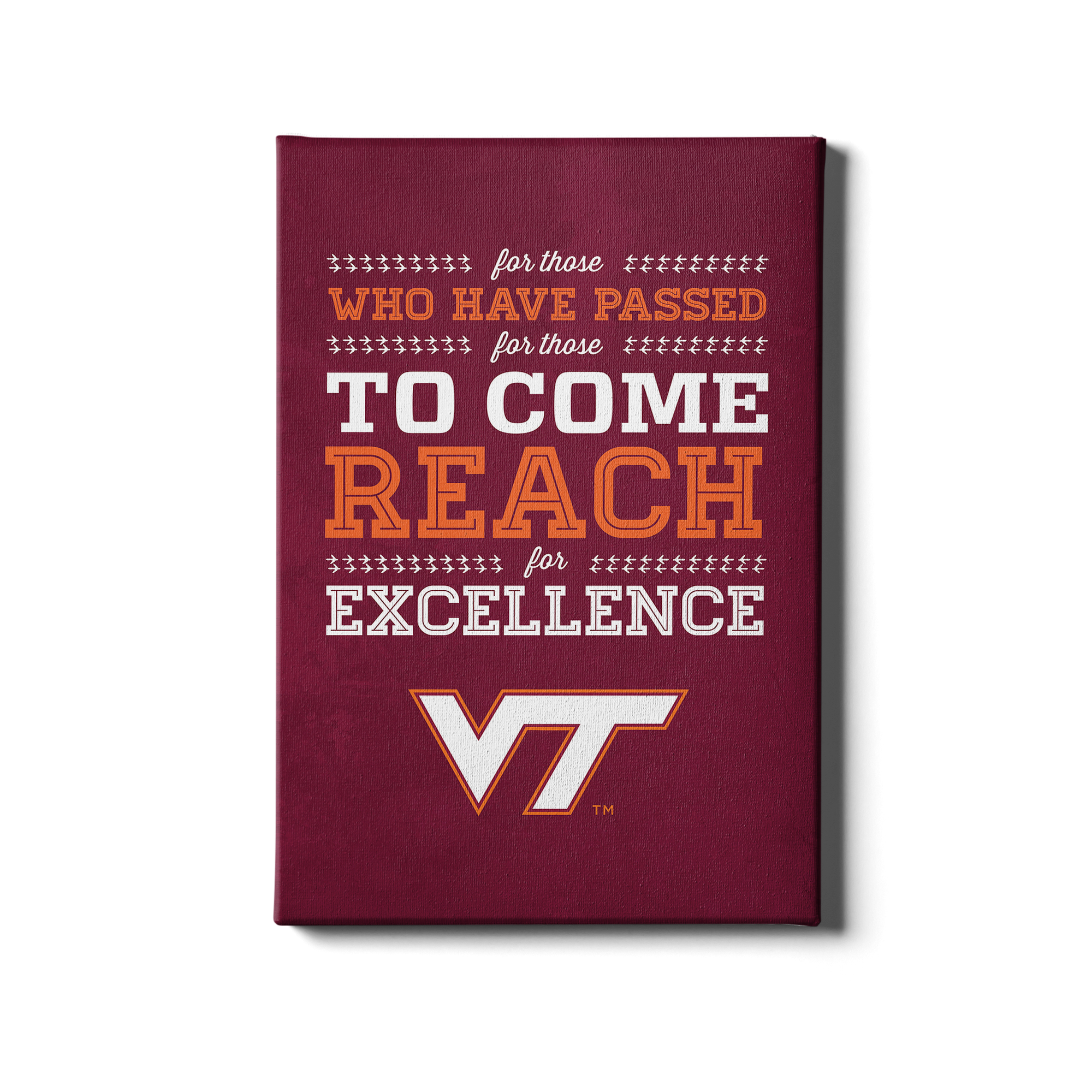 Virginia Tech Hokies - Reach - College Wall Art #Canvas