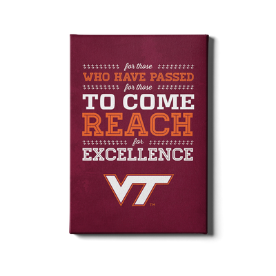 Virginia Tech Hokies - Reach #Canvas
