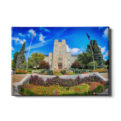 Virginia Tech Hokies - Summer Burress Hall - College Wall Art #Canvas