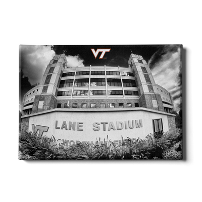 Virginia Tech Hokies - Lane Stadium Black & White - College Wall Art #Canvas