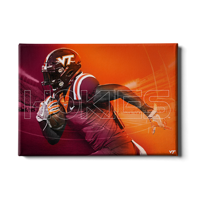 Virginia Tech Hokies - Maroon & Orange - College Wall Art #Canvas