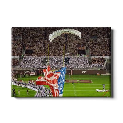 Virginia Tech Hokies - Enter Old Glory - College Wall Art #Canvas