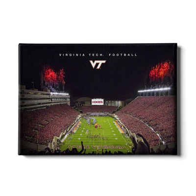 Virginia Tech Hokies - Enter VT Football - College Wall Art #Canvas