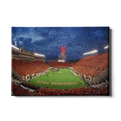 Virginia Tech Hokies - Stormy Lane Orange Out #Canvas