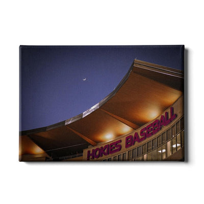 Virginia Tech Hokies - Crescent Moon Over Union Park - College Wall Art #Canvas