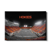 Virginia Tech Hokies - Hokie Striped End Zone - College Wall Art #Canvas