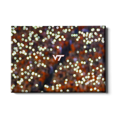Virginia Tech Hokies - Light Up Lane - College Wall Art #Canvas