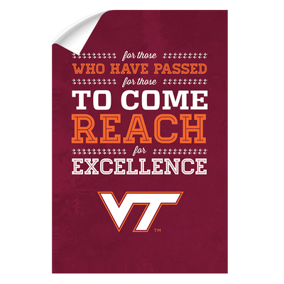 Virginia Tech Hokies - Reach - College Wall Art #Wall Decal