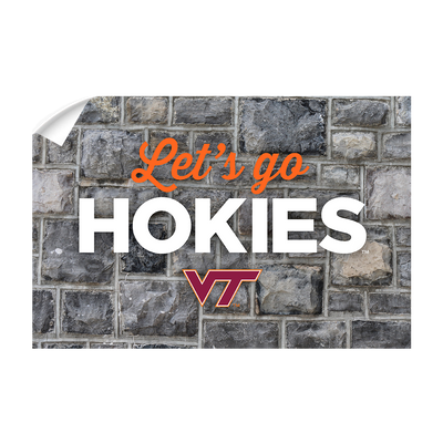 VIRGINIA TECH HOKIES - Lets Go Hokies - College Wall Art #Wall Decal