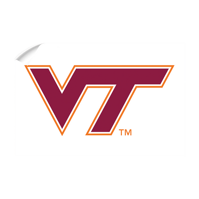 Virginia Tech Hokies - VT White - College Wall Art #Wall Decal