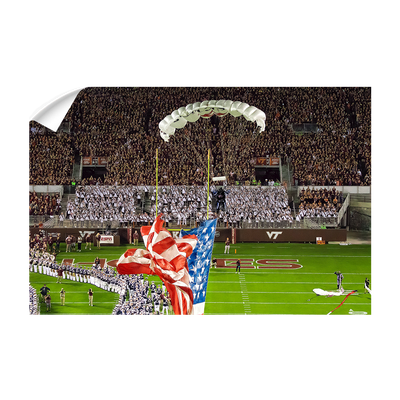 Virginia Tech Hokies - Enter Old Glory - College Wall Art #Wall Decal