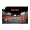 Virginia Tech Hokies - Hokie Striped End Zone - College Wall Art #Wall Decal
