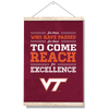 Virginia Tech Hokies - Reach - College Wall Art #Hanging Canvas