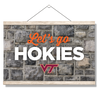 VIRGINIA TECH HOKIES - Lets Go Hokies - College Wall Art #Hanging Canvas
