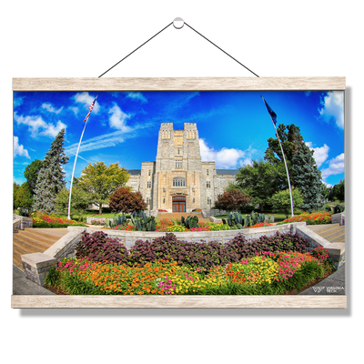 Virginia Tech Hokies - Summer Burress Hall - College Wall Art #Hanging Canvas