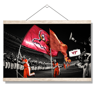 Virginia Tech Hokies - Enter Sandman - College Wall Art #Hanging Canvas