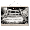 Virginia Tech Hokies - Lane Stadium Black & White - College Wall Art #Hanging Canvas