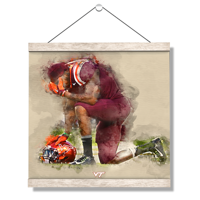Virginia Tech Hokies - VT Pray - College Wall Art #Hanging Canvas