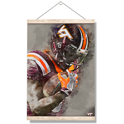 Virginia Tech Hokies - VT Watercolor - College Wall Art #Hanging Canvas