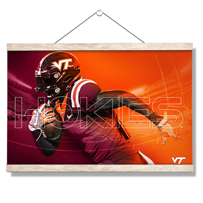 Virginia Tech Hokies - Maroon & Orange - College Wall Art #Hanging Canvas