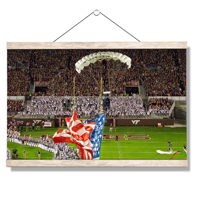 Virginia Tech Hokies - Enter Old Glory - College Wall Art #Hanging Canvas