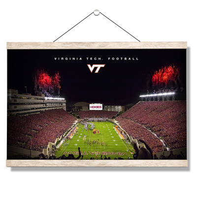Virginia Tech Hokies - Enter VT Football - College Wall Art #Hanging Canvas