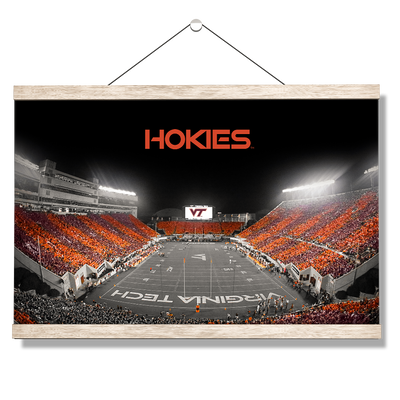 Virginia Tech Hokies - Hokie Striped End Zone - College Wall Art #Hanging Canvas