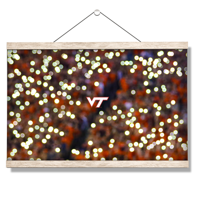 Virginia Tech Hokies - Light Up Lane - College Wall Art #Hanging Canvas
