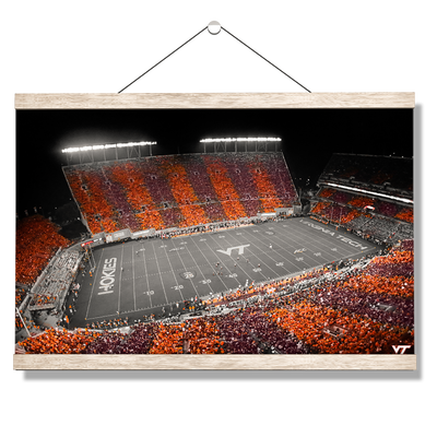 Virginia Tech Hokies - Hokie Stripe Above -College Wall Art #Hanging Canvas
