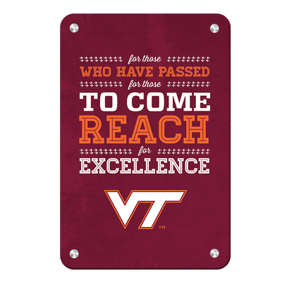 Virginia Tech Hokies - Reach - College Wall Art #Metal