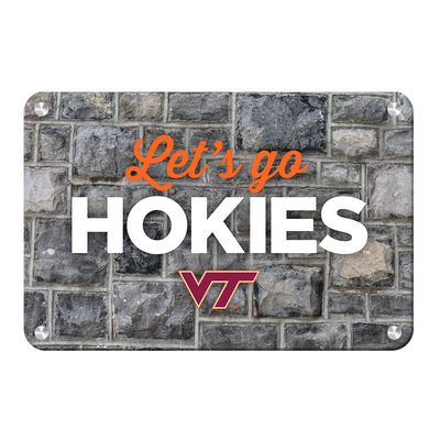 VIRGINIA TECH HOKIES - Lets Go Hokies - College Wall Art #Metal