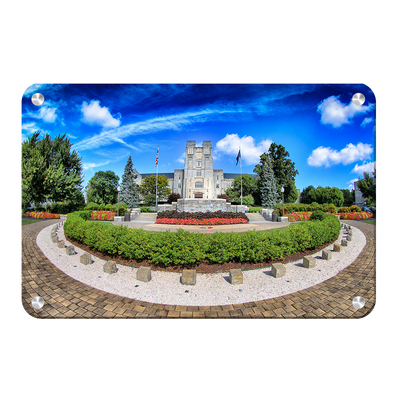 Virginia Tech Hokies - Burruss Hall - College Wall Art #Metal