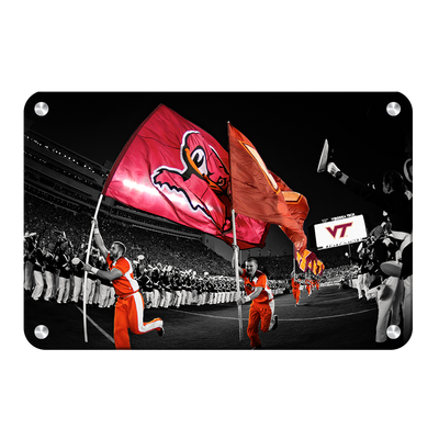 Virginia Tech Hokies - Enter Sandman - College Wall Art #Metal